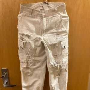 LF White jogger jeans, never worn!